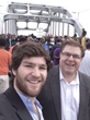 Matthew Mengert (left) pictured with Paul Mengert at the Edmund Pettus Bridge in Selma Alabama