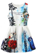 Exquisite Dress, Floral Dress, Sleeveless Dress, Mini Dress