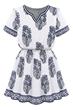 Demure Dress, Vintage Dress, Floral Dress, Mini Dress