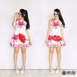Floral Dress, Jacquard Dress, A-line Dress