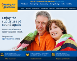 Hearing Aid Healthcare Website