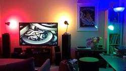 Light DJ Pro transforms the landscape of your living room with rich, vibrant colors.
