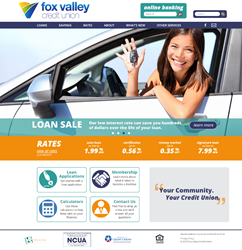 Fox Valley Credit Union Home Page Design