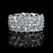 Diamond Three Row 18k White Gold Eternity Wedding Band Ring