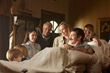 (L to R:) Hudson Meek (Chris Piper), Bobby Baston (Joe Piper), Elizabeth Hunter (Nicole Piper), David Clyde Carr (Eva's Dad), Kate Bosworth (Eva Piper), Hayden Christensen (Don Piper) and Catherine Ca