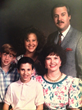 (L to R:) Joe, Chris, Nicole, Eva and Don Piper in a family photo circa 1991, shortly after he returned home from his 13-month hospital stay. The Pipers' true story, 90 MINUTES IN HEAVEN, from Giving