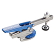The clamp foot has a non-marring pad and pivots to adapt to different clamping angles.