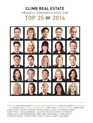 Climb Real Estate's Top 25 Agents for 2014
