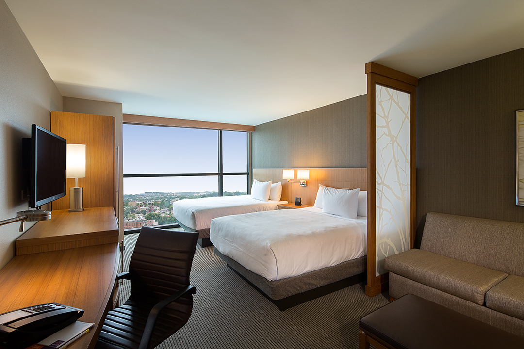 First Hyatt Place Built In The Nation's Capital Turns One Year Old Awesome 2 Bedroom Hotel Suites In Washington Dc