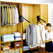 Outwater's Pull Down Closet Rod with Adjustable Handle