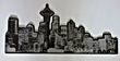 "Laser Cut and Etched 1/2"" Thick Plastic Acrylic Seattle Skyline"