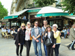 Left Bank Writers Retreat participants enjoy La Closerie des Lilas café in Paris, a writing haunt of Ernest Hemingway's.