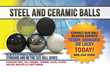 Steel and Ceramic Balls