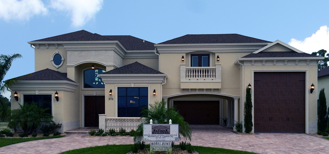 New custom model home titusville florida for Custom home plans florida