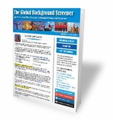 international background screening