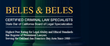 Oakland Sex Crime Lawyers and Sexual Misconduct Defense Attorneys at Beles & Beles Announce No Cost Consultations