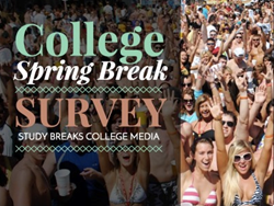 college, Spring Break, Study Breaks College Media, survey results