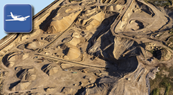 3D orthographic image reconstructed from an aerial flight.