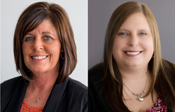 Laura Ormsby and Jessica Baker in new NE Indiana North American Title office