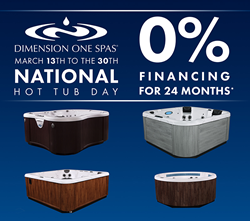 Dimension One Spas Celebrates National Hot Tub Day