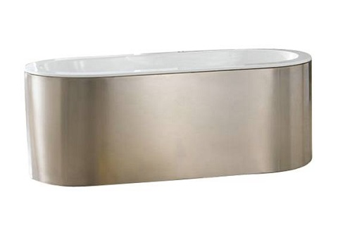 acrylic 66u2033 tub with stainless steel skirt atovn66ss from barclay