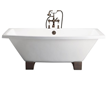 Barclay Athens 67″ Cast Iron Tub With Wooden Blocks CTSQH67-WH