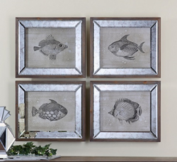 Mirrored Fish Framed Art S-4 41700 from Uttermost