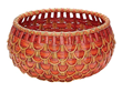 Small Fish Scale Basket In Red and Orange 466051 from Lazy Susan