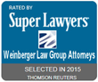 Weinberger Law Group Attorneys Named as 2015 Super Lawyers in New...