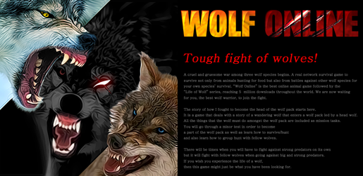 �wolf online� the best real network survival wolf game