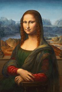 "New Jenness Cortez Painting Depicts Leonardo's ""Mona Lisa ..."