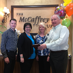 Three team members of McCaffrey Homes have completed 10 years of service.