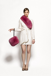 Fuchsia fox fur accessories for Fall 2015
