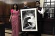 Shreya Mehta Presents Artwork to Indian Prime Minister