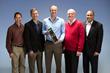 FCBH Aerospace Advisory Council. (L-R) Col. (ret) Jim Dutton; Lt. Col. (ret) Gregg Leisman; Lt. Col. (ret) Dan Jones; Col. (ret) Tom Adang and Col. (ret) Rob Walker.