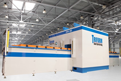 The Triform 2496-5BD fluid cell sheet hydroforming press with dual shuttles