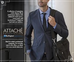Attaché Collection of Easy-Care Merino Wool Fabrics