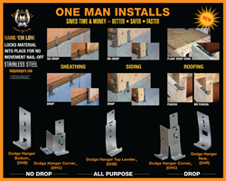Use to install wall sheathing, siding and roof sheathing easier, safer, faster, better.