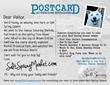 Postcard promoting Salt Spring Island by SaltSpringMarket.com
