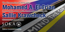"Soka University Hosts Mohamed A. El-Erian and Sallie Krawcheck  in ""The Economics of Inequality,"" – April 7, 2015"