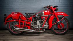 Moto Guzzi Airone in carmen red - `art in engineering`