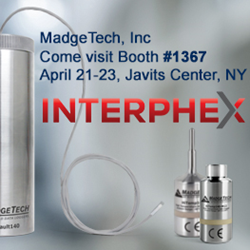 MadgeTech to reveal new Sterilization Data Logging System at Interphex 2015
