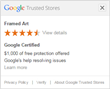 Positive Shopping Experience at Framed Art.com Recognized Via Inclusion in Google Trusted Stores Program