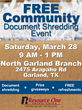 Resource One Credit Union Document Shredding Event