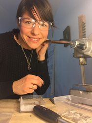 Metal Pressions by Elisha Argentinis in her Savannah, Georgia  jewelry design studio
