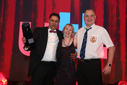 Crystal Ball's Managing Director Raj Singh accepting the award for Innovative Product 2015