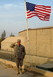 "William ""Spanky"" Gibson during his service in Iraq."