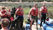 William Gibson and the Semper Fi Team prepare for rafting the Colorado River in 2007.