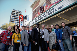 Jones Family and crew posing for picture during the SXSW