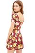 Demure Dress, Floral Dress, A-Line Dress, Mini Dress